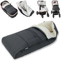 Monzana Baby Fußsack Babyfußsack Kinderwagen Winterfußsack Babyschale Babydecke Waschbar, Farbe:Grau