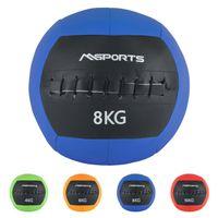 Wall-Ball Premium Gewichtsball 2 - 10 kg Medizinball in verschiedenen Farben, Farbe:8 Kg - Blau