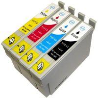 Druckerpatronen-Set kompatibel mit Epson T0715 XL - je 1 x T0711, T0712, T0713, T0714 für Stylus D120, D78, D92, DX4000, DX4050, DX4400, DX4450, DX5000, DX5050, DX5500, DX6000, DX6050, DX7000 F, DX7400, DX7450, DX8400, DX8450, DX9200, DX9400 F, Office B40 W, Office BX300 F, Office BX310 FN, Office BX510 W, Office BX600 FW, Office BX610 FW, S20, S21, SX100, SX100, SX105, SX110, SX115, SX200, SX200, SX205, SX210, SX210, SX215, SX218, SX400, SX400, SX400 WiFi, SX405, SX405 WiFi, SX410, SX415, SX417, SX510, SX5