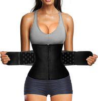 Bauchweggürtel Fettverbrennung Taillenformer Sport Fitnessgürtel Schwitzgürtel Body Shaper Verstellbarer Gürtel Größe:M