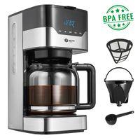 Balter Kaffeemaschine Filterkaffeemaschine Timer Warmhalteplatte Glaskanne