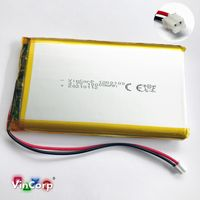 1x Lipo Akku 1s 3,7V 10000mAh JST PH Stecker PCB 1260100 Video Powerbank Tablet