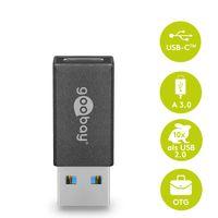 Goobay USB  3.0 Superspeed Adapter auf USB-C  - Plug and Play, OTG, abwärtskompatibel -  macht aus USB einen USB-C Anschluss
