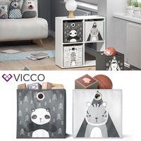 VICCO 2er Set Faltbox 30x30 cm Kinder Faltkiste Aufbewahrungsbox Regalkorb