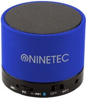 NINETEC BeatBlaster Bluetooth Bass Speaker Micro SD AUX Freisprechfunktion Grau