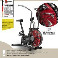 SportPlus AirBike Heimtrainer Fan-Bike, stufenloser Widerstand, großes Windrad, Fitnessfahrrad mit Luftwiderstand, SP-FB-1000