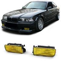 Nebelscheinwerfer Gelb geriffelt mit Halter für BMW 3er E36 auch M3 90-99