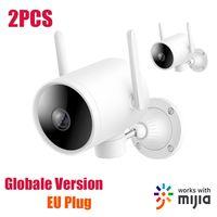 IMILAB EC3 PTZ WiFi-Webcam fuer den Aussenbereich 270 ¡ã 1080P H.265 IP66 Nachtsicht-Sprachanrufalarm AI Humanoid-Erkennungskamera CMSXJ25A Vom Xiaomi-oekosystem¡ŸEU-Stecker¡¿ 2PCS