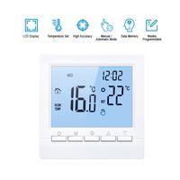 Smart Thermostat Digitale Temperaturregler LCD Display Woche Programmierbare Elektrische Fußbodenheizung Thermostat für Home School Office Hotel 16A[Blau]