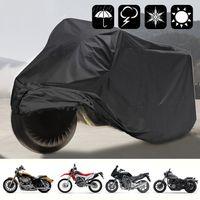 XXL Motorrad Abdeckung 210T Roller Abdeckplane Wasserdicht UV-Schutz Motorradgarage 245x105x125cm