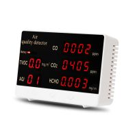 Luftqualität Monitor Messgerät Air Quality Detector, Kohlendioxid Tester für Innenräume CO2 CO HCHO AQI TVOC Portable Home Meter