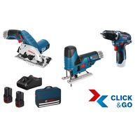 Bosch 12V Profi Set 3-tlg. GSR+GKS+GST