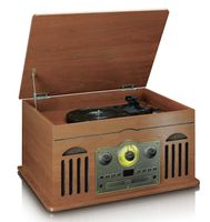Lenco Plattenspieler TCD-2600, Bluetooth, CD, MP3, Holzoptik
