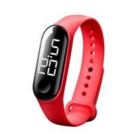 Elektronische Datumsuhr Armband Kinder, Outdoor Sportuhr Braun
