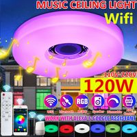 33cm WIFI bluetooth LED Deckenlampe Lautsprecher 256 RGB Dimmbar Deckenleuchte