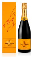 Veuve Clicquot Brut Champagner in Geschenkpackung Champagne Frankreich   12 % vol   0,75 l
