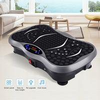 3D Vibrationsplatte Vibrationsgerät Vibrationstrainer VibroTrainingsgerät shaper ,Riesige Fläche, Schwarz