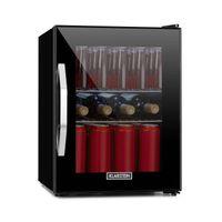 Klarstein Beersafe M Onyx Getränkekühlschrank  ,  35 Liter  ,    ,  5 Kühlstufen  ,  42 dB  ,  2 flexible Metallböden  ,  LED-Licht  ,  Kühlschrank für Flaschen  ,  Mini-Bar  ,  Glastür  mit schwarzem Rahmen  ,  Onyx