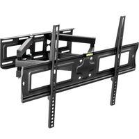 """tectake TV Wandhalterung neigbar, schwenkbar für 32"""" (81cm) bis 65"""" (165cm), VESA max.: 600x400, bis 120kg - schwarz"""