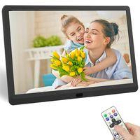 Digitaler Bilderrahmen 10 Zoll, 1024*600 auflösend IPS Display Foto/Video usw., Unterstützt USB-und SD-Karte (32GB)