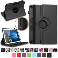 Tablet Tasche für TOSCIDO 4G LTE Hülle Schutzhülle Case Universal Kameraöffnung, Farben:Schwarz