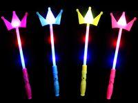 Leuchtstab LED Krone Bunt ca. 35 cm , Farbe wählen:Leuchtstab Krone blau