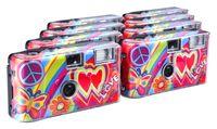 TopShot Love Cult 400/27 Flash 8er  Pack - Hochzeit - Party - Outdoor - Einwegkamera
