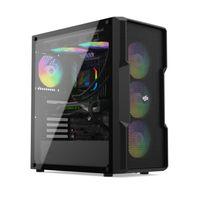 SilentiumPC Regnum RG6V EVO TG ARGB - Midi-Tower - PC - Schwarz - ATX,EATX,Micro ATX - Gaming - Tasc