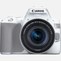 Canon EOS 250D / Rebel SL3 / EOS KISS X / EOS 200D MARK II    18-55 / 4.0-5.6 EF-S IS STM 24,1 Megapixel 4K Ultra HD DSLR-Kamera-Kit mit Objektiv, 22,3 x 14,9 mm CMOS-Sensor, 7,62 cm (3 Zoll) Display, Touchscreen, WLAN, Gesichtserkennung