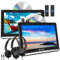 """Pumpkin 2 x 10.1"""" Tragbarer DVD Player Auto Kopfstützen 1024*600 Monitor für Kinder USB AV-IN/OUT  AUX-Eingang"""