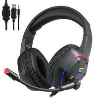 7.1 Stereo RGB Gaming Headset Gamer Kopfhörer mit Geräuschunterdrückung für For PS4 PS5 Swtich New Xbox one PC Computertelefon Tablet