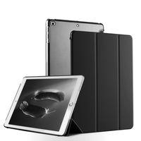 Smart Cover für Apple iPad Air 1 9.7 Zoll Schutzhülle Case Etui Hülle Tasche Ständer Schale Soft Cover Etui Slim Ultradünn Klapp Falt  Schwarz