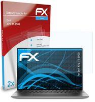 atFoliX FX-Clear 2x Schutzfolie kompatibel mit Dell XPS 15 (9500) Displayschutzfolie