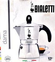 Bialetti Moka Dama Espressokocher, Aluminium, metallic, 3 Tassen