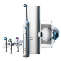 Braun Oral-B Genius 9000s | Elektrozahnbürste | weiß | Positons-Erkennung | 6 Modi inkl. Bluetooth | 12 farbiger LED Leucht-Ring