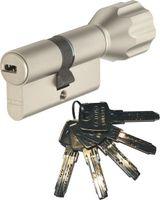 ABUS EC550 Knaufzylinder Länge Z40/K40mm (c=80mm) mit 5 Schlüssel, SKG** Bohrschutz
