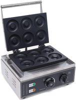 1550W 6 Stück Donutmaker Kommerziell Edelstahl Donut Maschine Mit Antihaftbeschichtung 0 bis 5 Minuten Timer