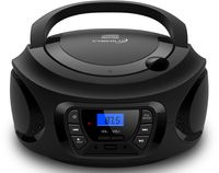 Cyberlux Tragbarer CD-Player Kinder Radio CD-Radio Stereoanlage Boombox schwarz