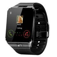 Schwarz,Smartwatches Bluetooth Schlafmonitor Schrittzähler Touchscreen Kamera SIM Slot 230mAh 1,56 Zoll
