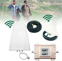 Verstärker Komplett Set mit Antenne 900/1800MHz GSM/DCS Repeater Booster Handy Signalverstärker Handynetz Signal Verstärker mit Außenantenne