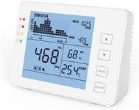 CO2 Messgerät KKmoon Kohlendioxid Detektor 0-5000 ppm CO2 Detektor für den Innenbereich Haushaltsluftdetektor Akustischer Alarm, großer Bildschirm, Batteriebetrieben RH / Temperaturmonitor Tracer