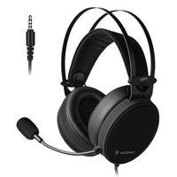 NUBWO N7 3.5 mm Gaming Headset Deep Bass Kopfhörer mit Mikrofon für PS4 neue Xbox One PC Smartphone Schwarz