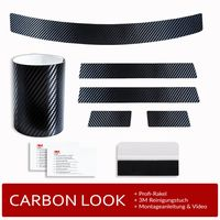 Ladekantenschutz und Einstiegsleisten Folie für VW Golf 7 Schrägheck ab Bj 2012-, Farbe:Carbon-Look
