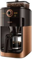 Philips Grind & Brew Integriertes Mahlwerk, Mit Timer, Kaffeemaschine, Filterkaffeemaschine, 1,2 l, Kaffeebohnen, Gemahlener Kaffee, Eingebautes Mahlwerk, 1000 W, Schwarz, Kupfer