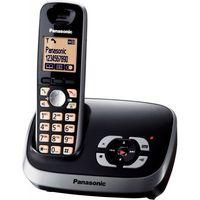 Panasonic Telefon KX-TG6521, schnurlos, Farbe: Schwarz