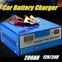Ladegerät Autobatterie Intelligente Auto KFZ Batterie Ladegerät Impuls Reparatur LKW PKW 200AH Auto Batterien Impulsreparatur