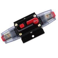 12V-24V Inline Auto Leistungsschalter 30a Manuellen Reset-Schalter Car-Audio-Sicherung Mehrfarbig Manueller Leistungsschalter zurücksetzen