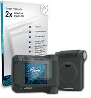 Bruni Basics-Clear 2x Schutzfolie kompatibel mit Swissphone s.QUAD X35 Folie