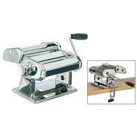 Nudelmaschine verchromt - verstellbarer Schneideaufsatz - für Spaghetti, Tagliatelle, Lasagneplatten