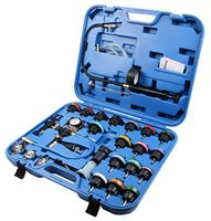28-tlg Kühlsystem Kühlmittel Testkoffer Druckluft Werkzeug Kfz Abdrückgerät
